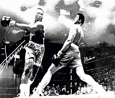 Mohamed Ali Float Like A Butterfly Print by Saundra Myles