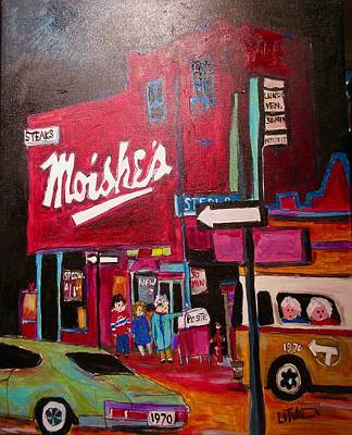 The Main Montreal Painting - Moishe's On The Main by Michael Litvack