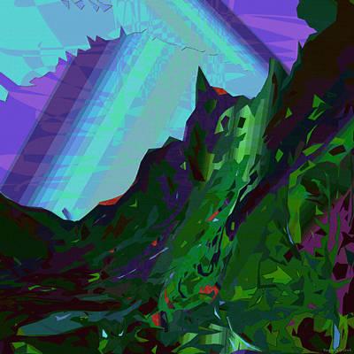 Contemporary Digital Art - Moku 17 by Kenneth Grzesik