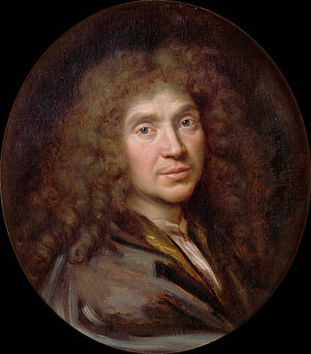 Painting - Moliere by Pierre Mignard