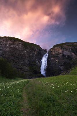 Waterfall Photograph - Mollisfossen by Tor-Ivar Naess