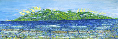 Green Sea Turtle Painting - Molokai Turtles by Podge Elvenstar