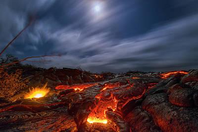 Night Moon Photograph - Molten Dream by Todd Kawasaki