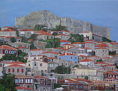Acrylic On Canvas Painting - Molyvos II by Eric Kempson