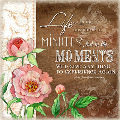 Inspirational Painting - Moments by Audrey Jeanne Roberts