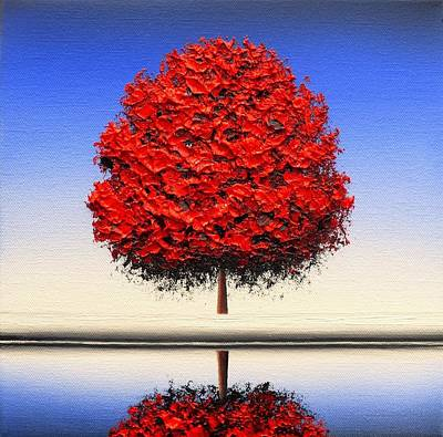 Red White And Blue Painting - Moments Of Clarity by Rachel Bingaman