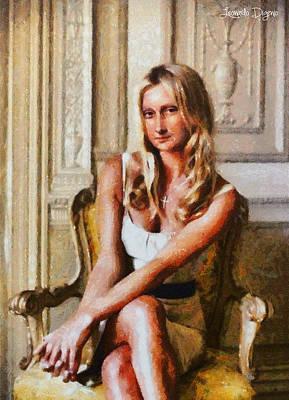 Women Digital Art - Mona Lisa Blond And Modern - Da by Leonardo Digenio