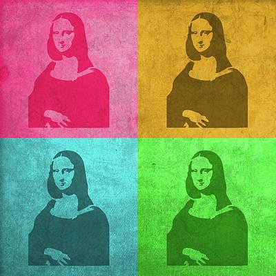 Lisa Mixed Media - Mona Lisa Painting Vintage Pop Art by Design Turnpike
