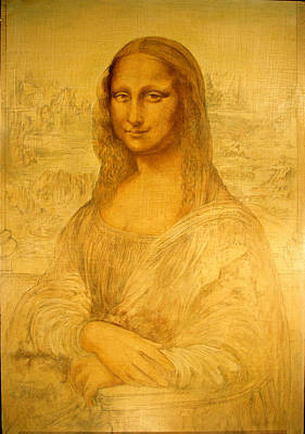 Louvre Mixed Media - Mona Lisa Study  by Steven Paul Carlson