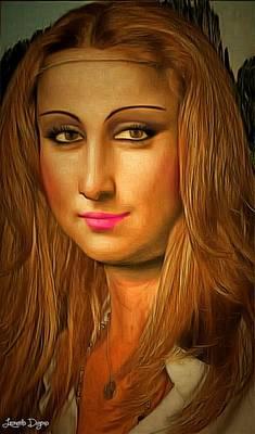 Young Painting - Mona Lisa Teen by Leonardo Digenio