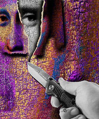 Mona Lisa What Lies Beneath 2  Original by Tony Rubino