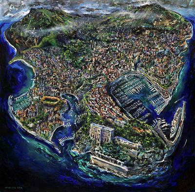 Grace Kelly Painting - Monaco by Antonio Ortiz