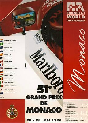 Monaco F1 1993 Print by Georgia Fowler