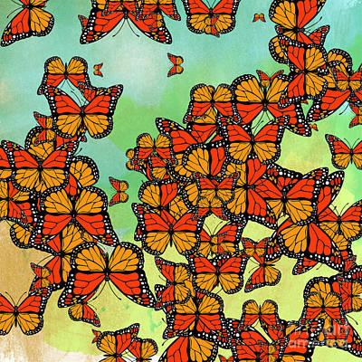 Monarch Butterflies Print by Gaspar Avila