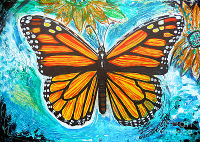Monarch Butterfly Original by Genevieve Esson