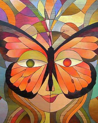 Monarch Mask Original by Deborah Wenzel