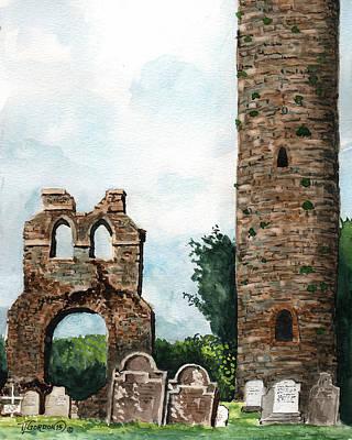 Monasterboice Ruins Ireland Original by Timithy L Gordon