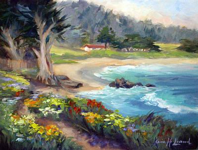 Iconic Painting - Monastery Beach, Carmel by Karin Leonard