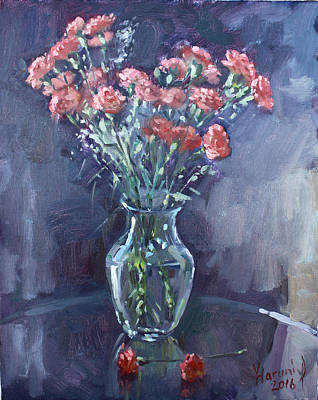 Carnation Painting - Monda's Bouqet For Viola by Ylli Haruni