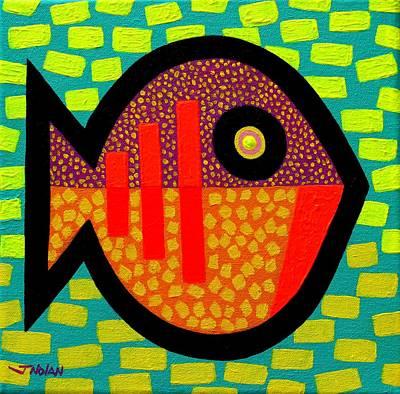 Tropical Fish Painting - Monday Fish by John  Nolan