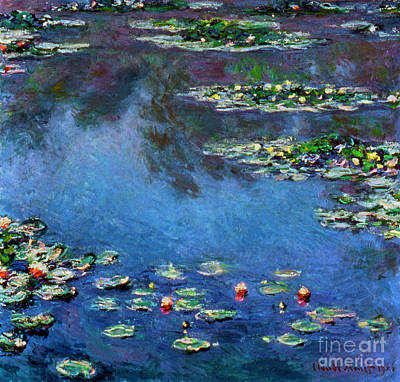 Monet: Waterlilies, 1906 Print by Granger