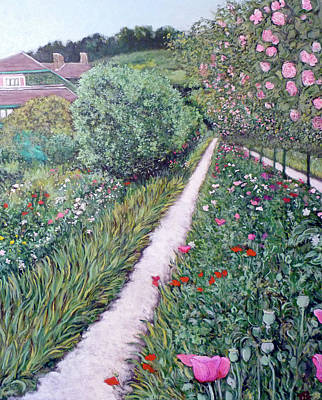 Monet's Garden Path Print by Tom Roderick