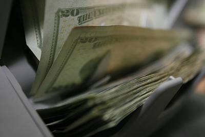 Money Counting Machine Photograph Print by CartographyAssociates