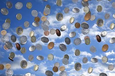 Sterling Photograph - Money Shower by Victor De Schwanberg