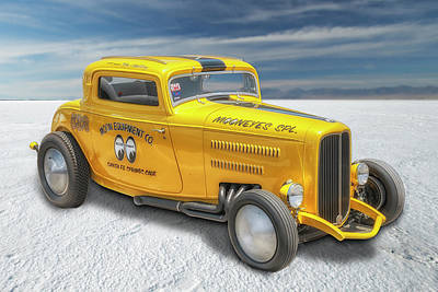 Mooneye Photograph - Moneyes Special 32 Ford Coupe by Gary Warnimont