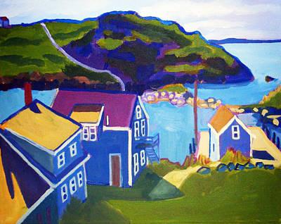 Fishing Shack Painting - Monhegan Harbor by Debra Bretton Robinson