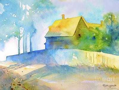 Maine Painting - Monhegan Island Morning by Jo Lynch