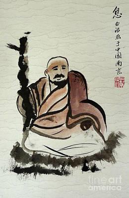 Monk Print by Birgit Moldenhauer