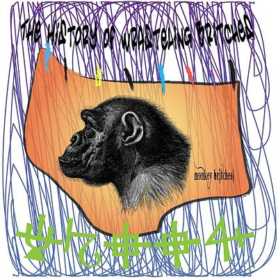 Monkey Britches Print by Donna Zoll