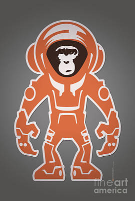 San Diego Artist Digital Art - Monkey Crisis On Mars by Monkey Crisis On Mars