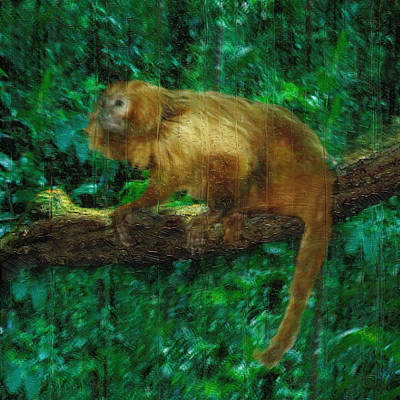 Logging Painting - Monkey Of The Rainforest  by Jack Zulli