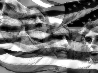 Usa Flag Photograph - Mono Fathers by Tingy Wende
