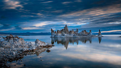 Reflection Photograph - Mono Lake Tufas by Ralph Vazquez