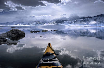 Lee Winter Photograph - Mono Lake Winter Kayak by Buck Forester