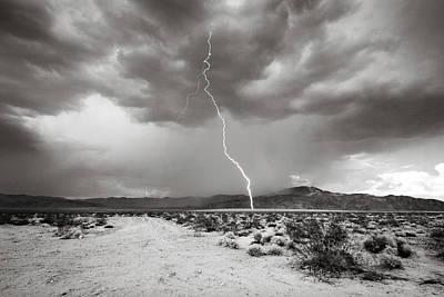 Monochrome Lightning Print by Jackie Novak