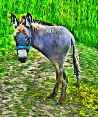 Equine Painting - Monodonkey - Pa by Leonardo Digenio
