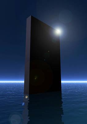 Monolith Digital Art - Monolith Reflection by Joseph Soiza