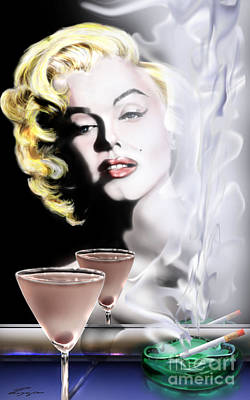 Monroe-seeing Beyond Smoke-n-mirrors Print by Reggie Duffie