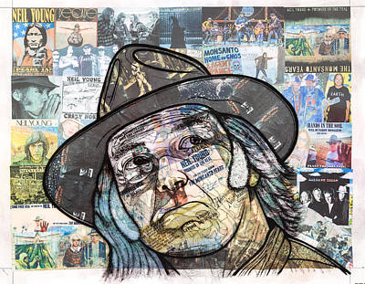 Neil Young Mixed Media - Monsanto Fears by Steven Hart