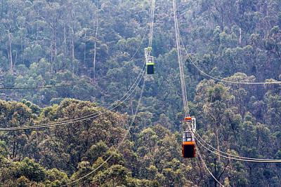 Aerial Tramway Photograph - Monserrate Aerial Tramway by Jess Kraft