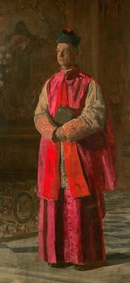 Monsignor James P. Turner Print by Thomas Eakins