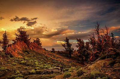 Monsoon Skies Over The Whites Print by Dan Holmes