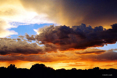 Rain Cloud Photograph - Monsoon Sunset by David Coyle