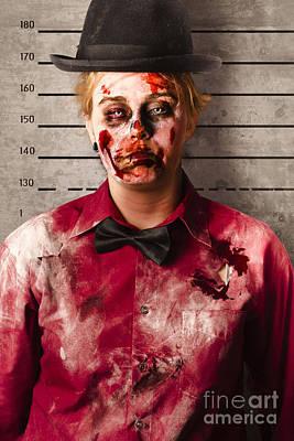 Monster Photograph - Monster Police Mug Shot. Creepy Criminal by Jorgo Photography - Wall Art Gallery