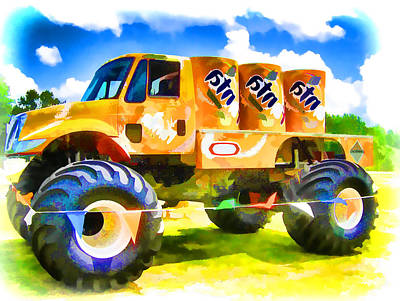 Stadium Crowd Painting - Monster Truck 3 by Lanjee Chee