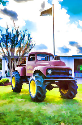 Stadium Crowd Painting - Monster Truck  by Lanjee Chee